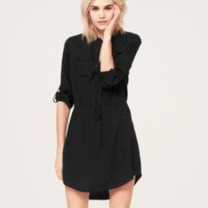 Lou & Gray Black Shirt Dress